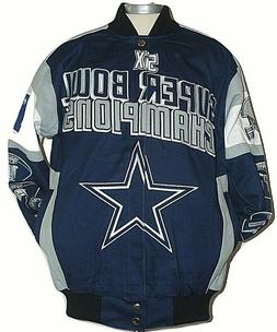 Dallas Cowboys NFL Legacy 5x Champion Cotton Twill Jacket,