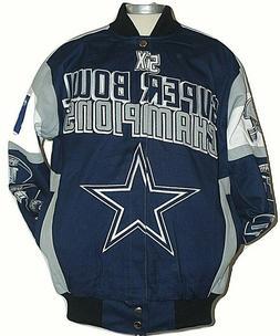 Dallas Cowboys NFL Legacy 5x Champion Cotton Twill Jacket,