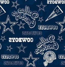 dallas cowboys nfl retro design cotton fabric