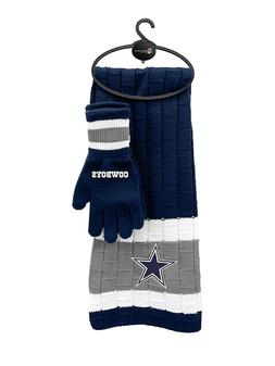 DALLAS COWBOYS NFL SCARF AND GLOVES GIFT SET