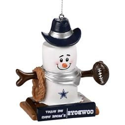 Dallas Cowboys NFL Thematic Smores Resin Holiday Ornament