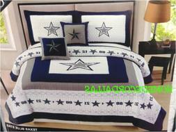 DALLAS COWBOYS OVERSIZED KING COVERLET-QUILT-BEDSPREAD 5PC S