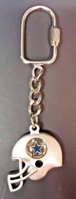 Dallas Cowboys Pewter-tone Helmet Keychain - Zipper Pull - B