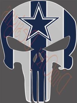Dallas Cowboys Punisher skull sticker/Decal for Car/Truck/Bo