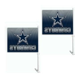 Dallas Cowboys Set of 2 Ombre Car Flags