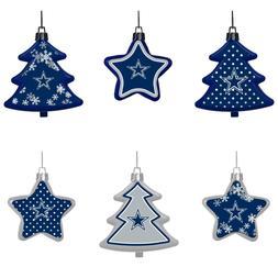 Dallas Cowboys Shatterproof TREES & STARS Christmas Tree Orn