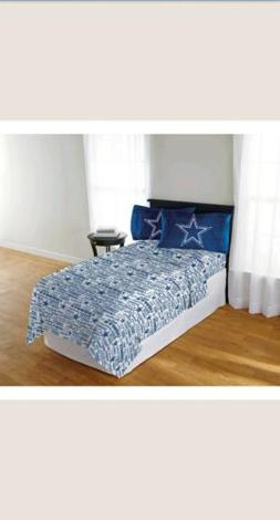 Dallas Cowboys Sheet Set NFL Bed Bedding Football FULL SIZE