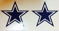 dallas cowboys star 2 pack decal free