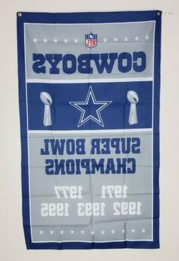 Dallas Cowboys Super Bowl Banner 3x5 Ft Flag Man Cave Wall D