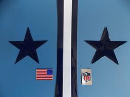 Dallas Cowboys throwback football helmet decals set
