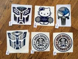 Dallas Cowboys vinyl decal/sticker for car/truck/boat/wall.