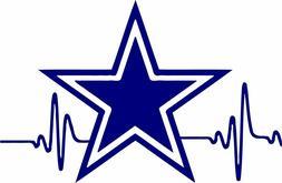 "Dallas Cowboys  Vinyl Stickers Car Window Decal Logo 6"" wide"