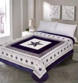 Dallas Cowboys Western Star Design Blanket BedSpread Comfort