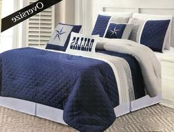 Dallas Cowboys Western Star Design Comforter Navy Blue - 6 P