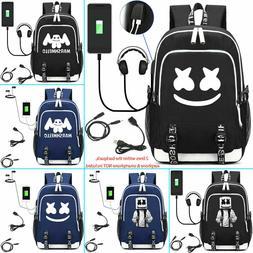 DJ Marshmello Padded Backpack School Book Laptop Travel Nylo