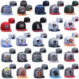 Embroidered Baseball Cap Flat Brim NFL Football Teams Logo S