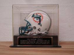 Football Mini Helmet Display Case With A Tony Romo Dallas Co