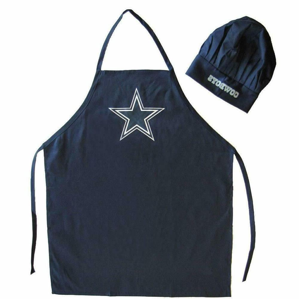2 Pack for Dallas Cowboys Chef Apron Set, Chef Hat and Kitch
