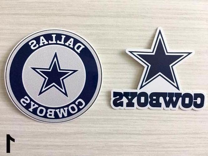 2x dallas cowboys car bumper laptop wall