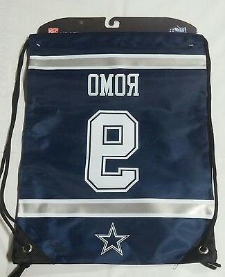 Tony Romo #9 Dallas Cowboys Jersey Back Pack/Sack Drawstring