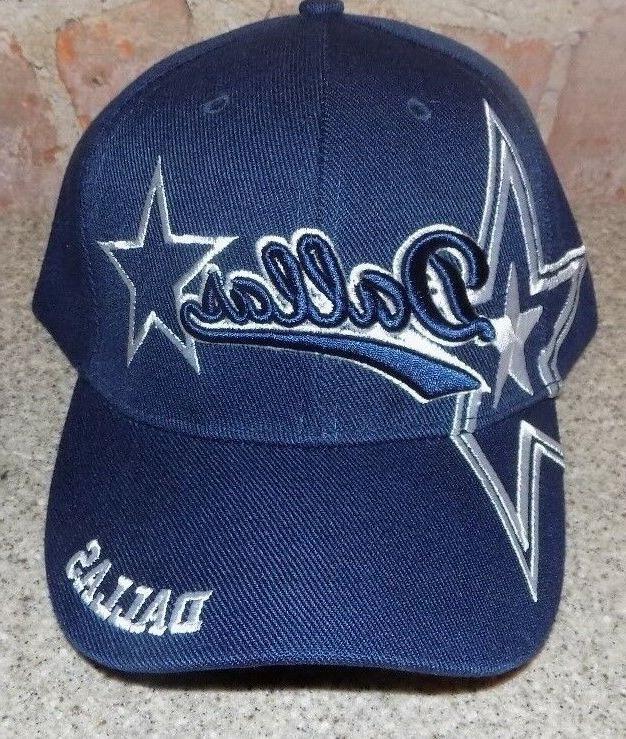 dallas blue hat cap script visor embroidered