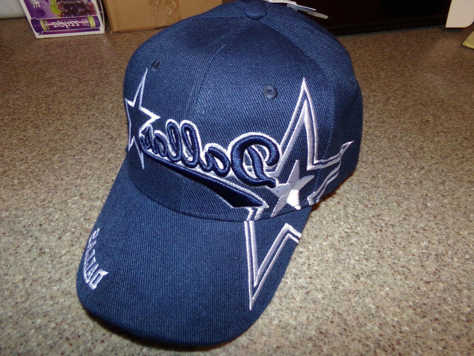 dallas city blue hat cap script visor