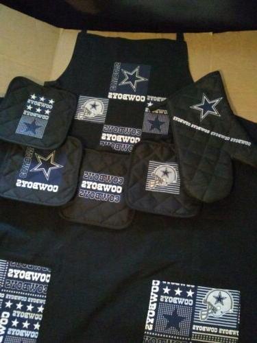dallas cowboys apron and potholder set 6