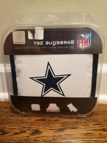 dallas cowboys apron oven mitt potholder tailgating