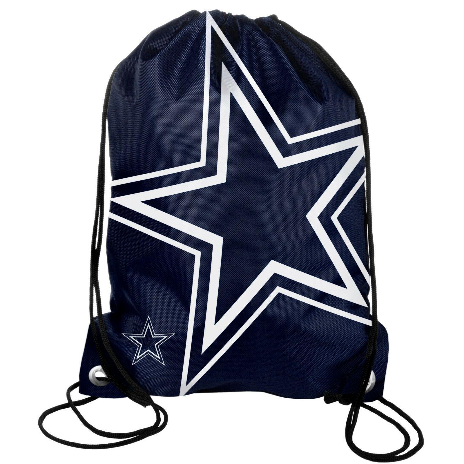 dallas cowboys back pack sack drawstring bag