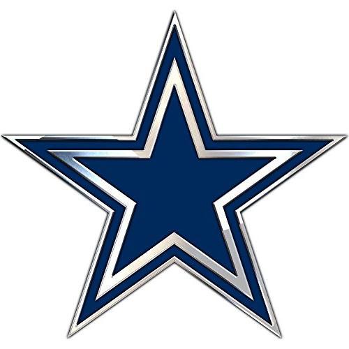dallas cowboys chrome metal star