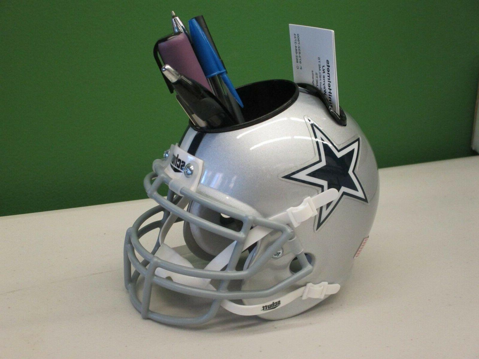 dallas cowboys custom mini helmet desk caddy