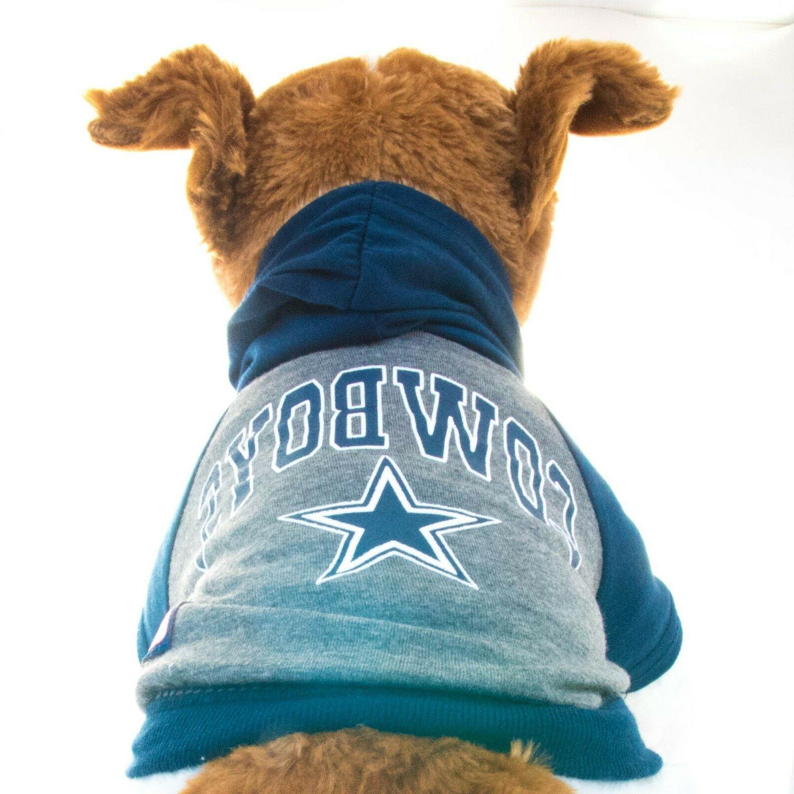 Dallas Cowboys Hoodie Shirt Size Football T-Shirt Pet Product