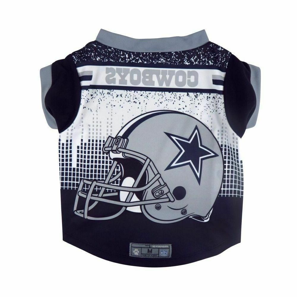 Dallas Cowboys Dog Shirt Helmet SMALL Size S Football NFL T-