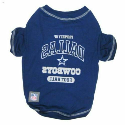 Dallas Cowboys Dog Shirt X-LARGE Size XL Football NFL T-Shir