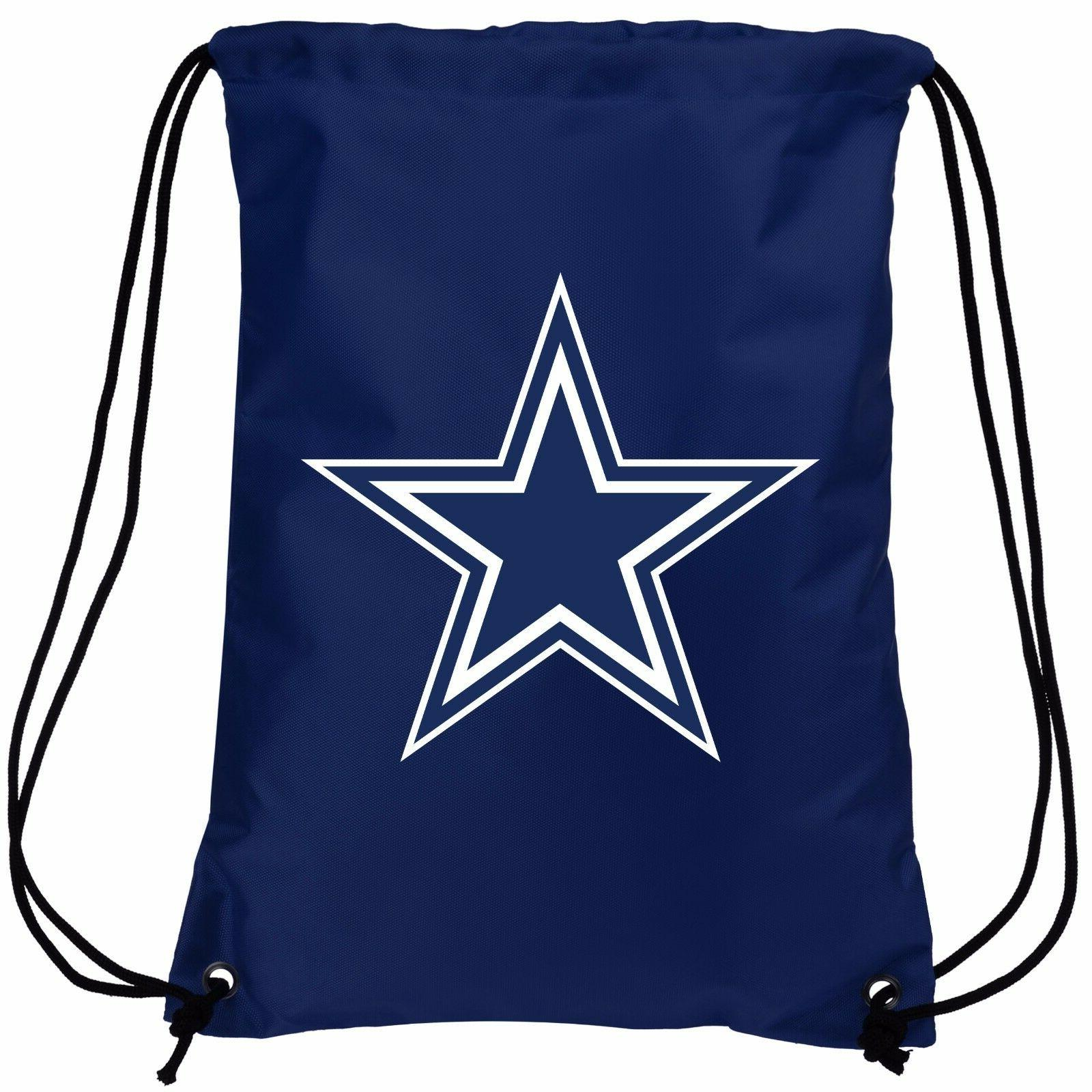 dallas cowboys double sided back pack sack