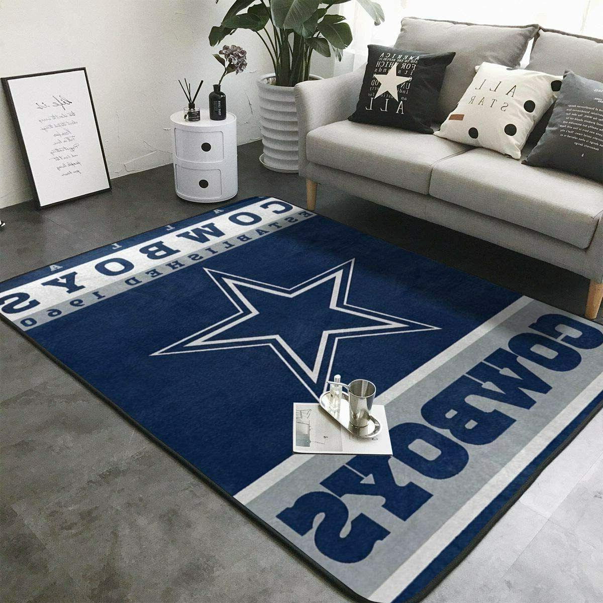 dallas cowboys rugs anti skid area rug