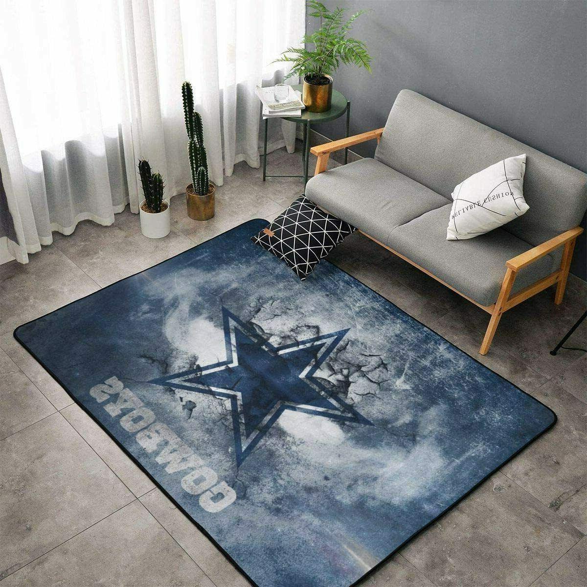Dallas Cowboys Living Room Rugs Bedroom Floor Mats