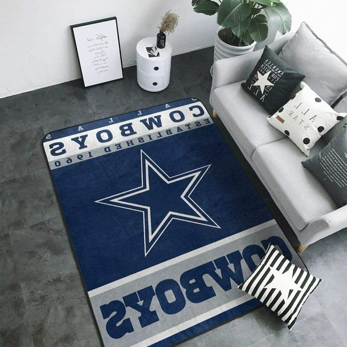 Dallas Cowboys Living Room Anti-Skid Area Rugs