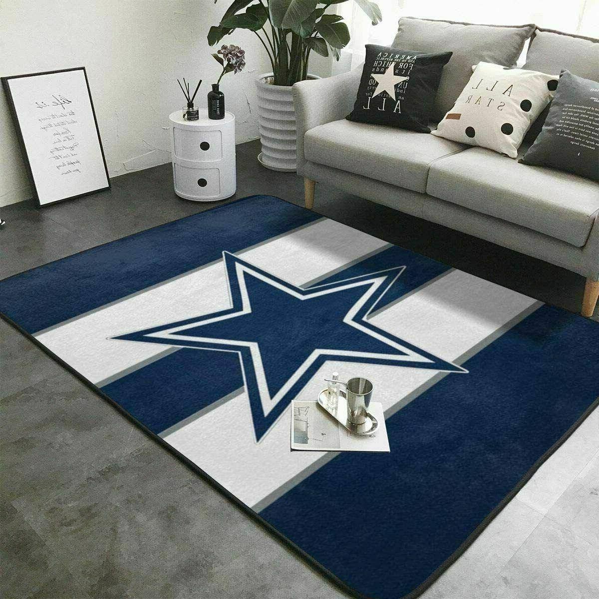 dallas cowboys fluffy carpets living room anti