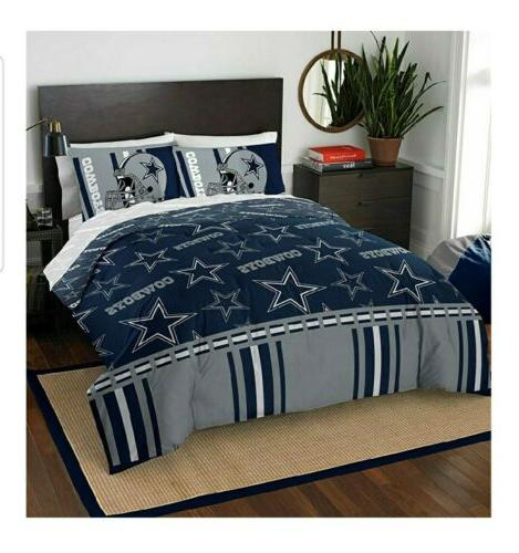 dallas cowboys full sized bed set complete