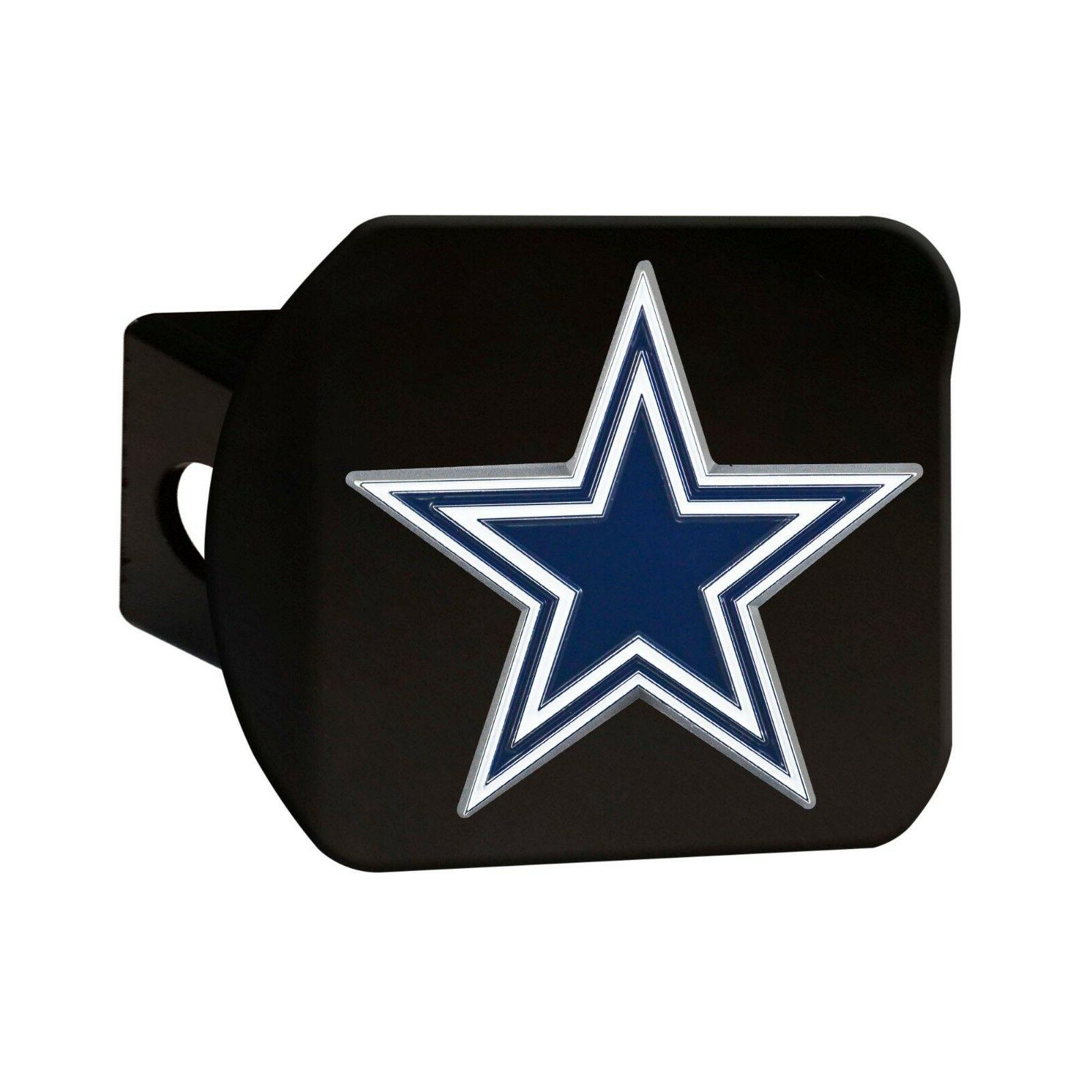Dallas Cowboys Duty 3-D Color Black Chrome Hitch