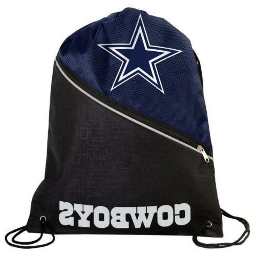 dallas cowboys high end zippered drawstring backpack