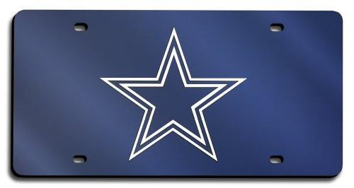 dallas cowboys license plate laser