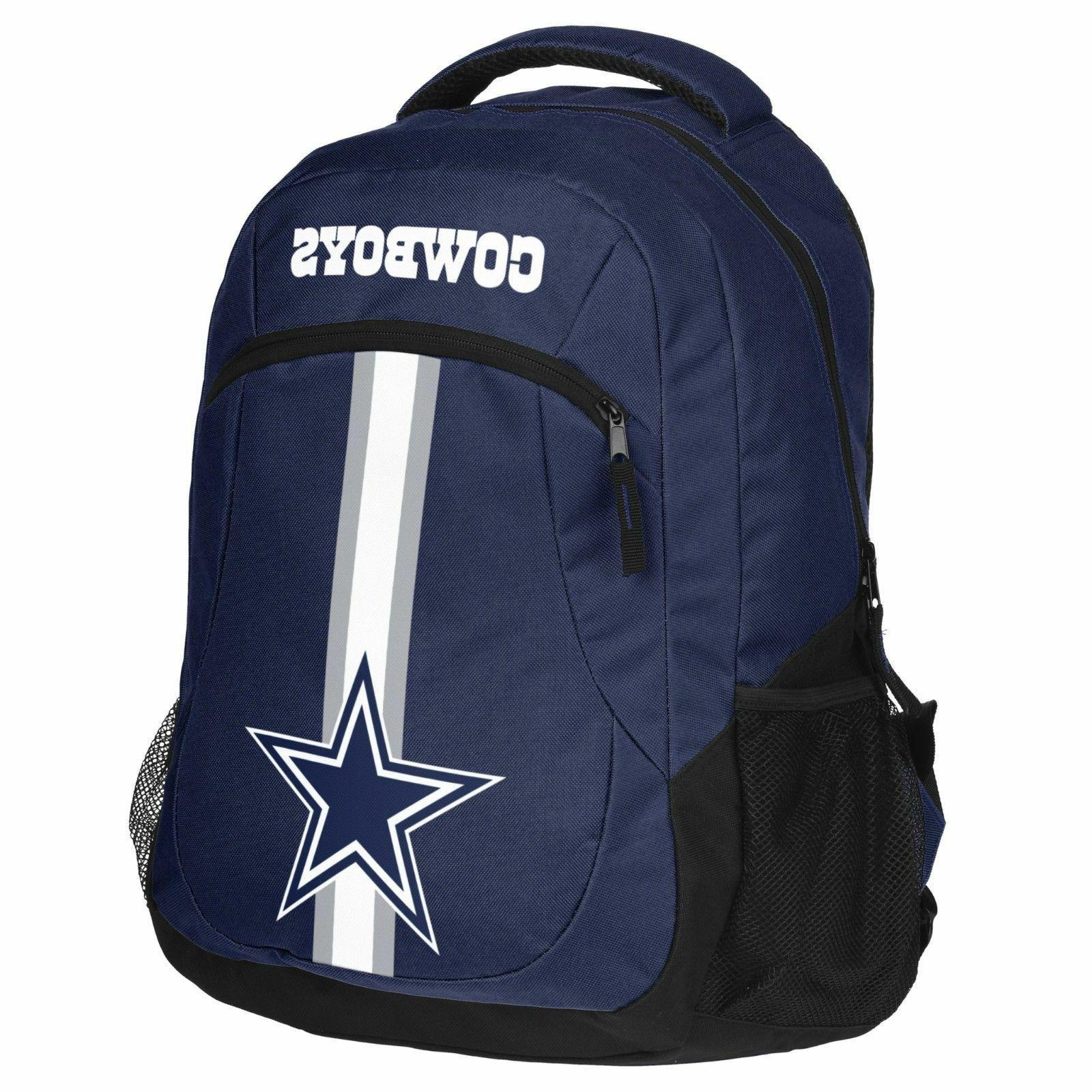 dallas cowboys logo action backpack school bag