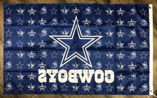 Dallas Cowboys Logo Flag Blue Sports Man-Cave Bar Pub