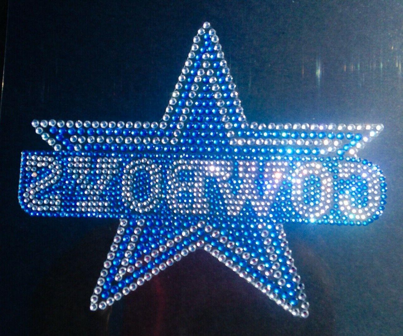 dallas cowboys logo rhinestone bling auto emblem