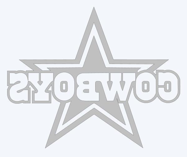 Dallas Cowboys Decal - Pick Color &