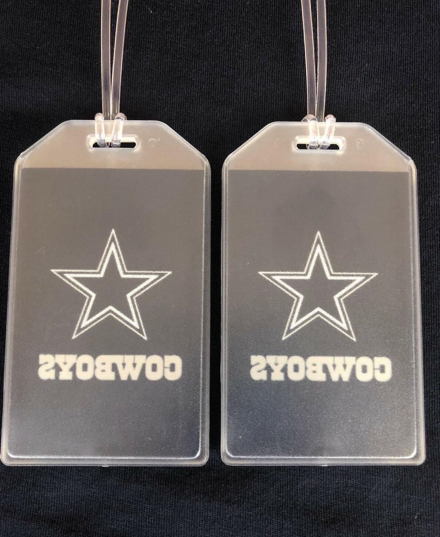 dallas cowboys luggage tags set of 2