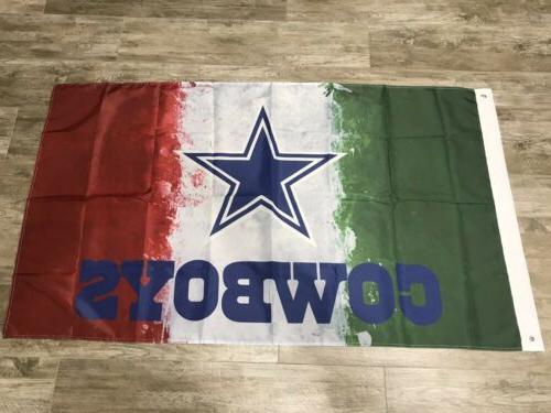 dallas cowboys mexico flag 3x5 ft banner