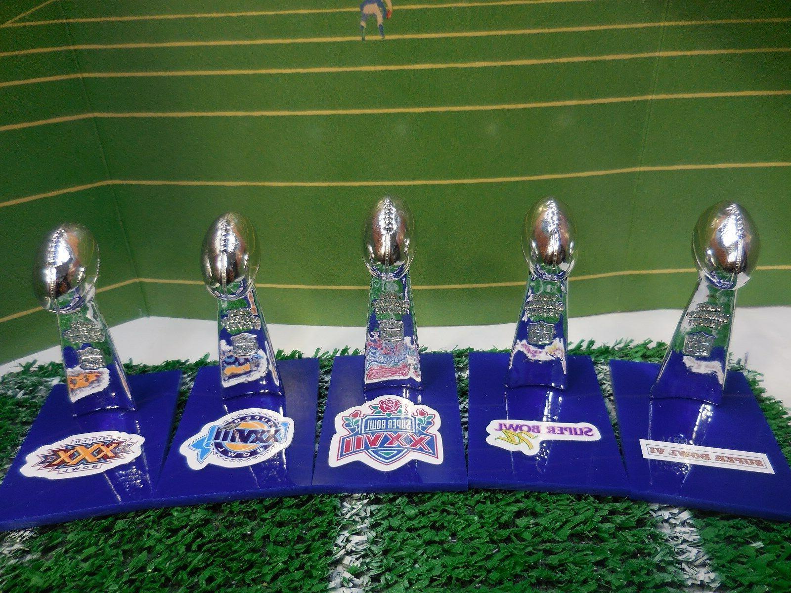 dallas cowboys mini lombardi trophy set mcfarlane